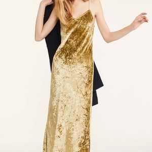 Lou & Grey Eva crushed velvet slip dress